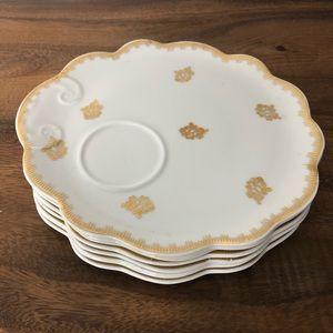 Porcelain De France Hand Painted Snack Plates